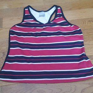 Nike pink striped tank sz L EUC